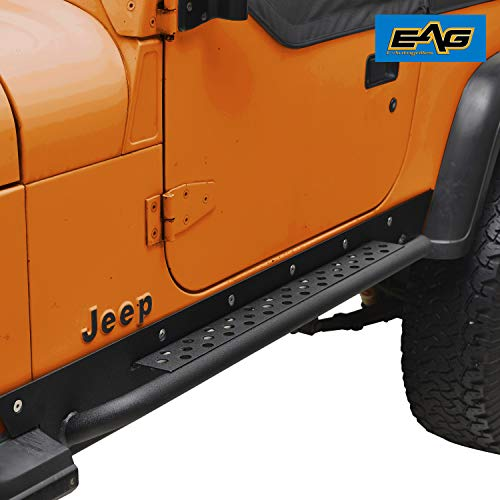 (EAG Rock Slider Rocker Guard Nerf Bar Step Armor Fit for 87-96 Jeep Wrangler YJ )