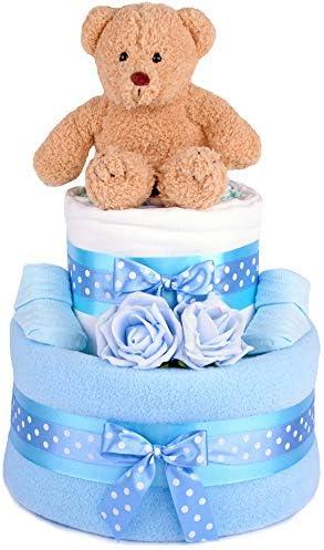 PureNappyCakes torta di pannolini per feste per i beb/è.