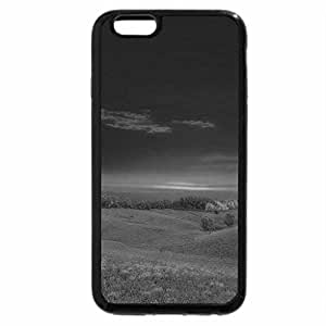 iPhone 6S Case, iPhone 6 Case (Black & White) - fantastic sunset over a grass meadow