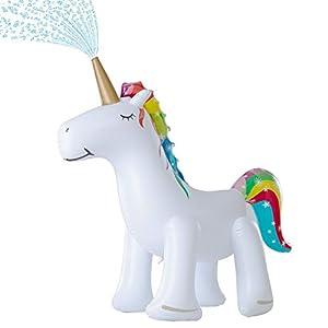 Leader Accessories Unicorn/ Elephant/ Crocodile Sprinkler Inflatable Water Toys (Unicorn Sprinkler 5.8ft)