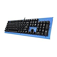 Azio Mk Hue Blue USB Backlit Mechanical Keyboard (Outemu Brown) (MK-HUE-BU)