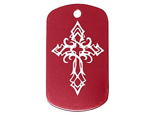 tribal-cross-red-dog-tag-custom-engraved-by-ndz-performance