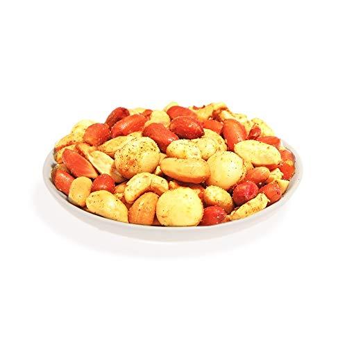 KERNenergie V.I.P. Curry Nussmischung | 1kg frisch geröstete Cashewkerne, Erdnüsse und Macadamias in exotischer Curry-Würzung