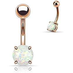 Rose Gold Opulent Opal Turquoise WildKlass Belly Button Ring