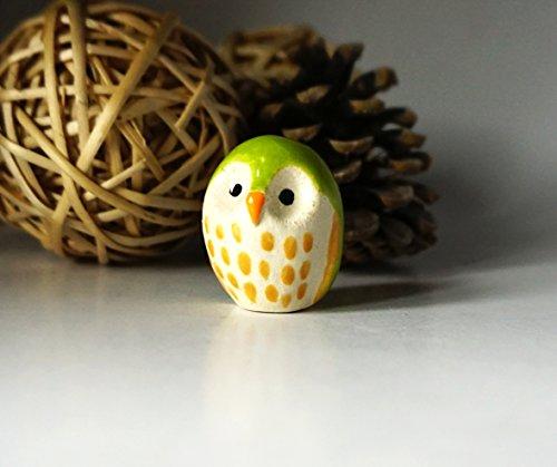 Hand Shaped Ceramic Owl Figurine