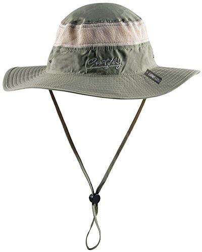 Camo Coll Outdoor Sun Cap Camouflage Bucket Mesh Boonie Hat (Desert Sage, One Size)