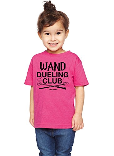 (Brain Juice Tees Wand Dueling Club Expelliarmus Harry Potter Unisex Toddler Shirt (3T, Vintage Hot Pink))