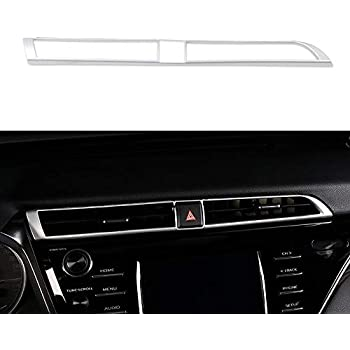 5pcs Air Conditioning Audio Function Button Cover Trim For Toyota Camry 2018 Set