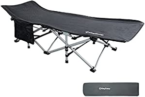 KingCamp Multiuso Cama de Camping Oficina Playa Ligera portátil Fuerte Estable Plegable 190 × 68 × 48 cm 6.6kg