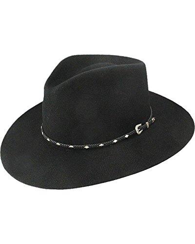 Stetson Men's 4X Diamond Jim Fur Felt Cowboy Hat Black 7 1/8 by Stetson