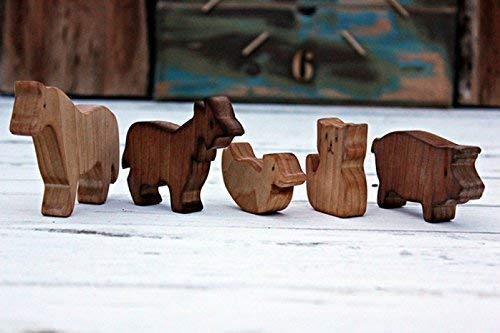 Wooden Set of animal farm Wooden animal Toys wooden Wooden toys Waldorf animal toy Wooden puzzle Eco-freindly toy Waldorf toys Christmas toys