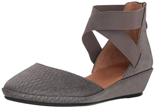 Gentle Souls Women Noa Wedge with Anklestraps Pump Ash