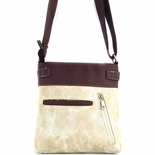 Cut Strap West Crossbody Purse Beige Messenger Bag Rhinestone De Lis with Rose Fleur Tooled Floral Justin Laser Western Long zTwgdzq