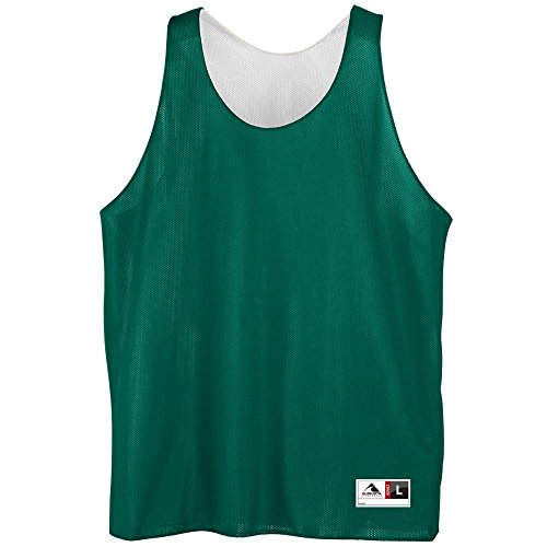 Youth Reversible Mini Mesh League Tank - GREEN WHITE MEDIUM by Augusta Sportswear