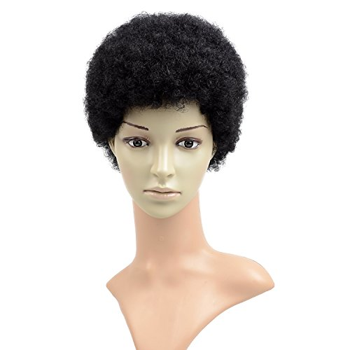 Razeal Afro 2 Short Afro Kinky Curly Wig With Brazilian Hair Black Human Hair Wigs Wigs For Black Women Short Wig Capless Wigs Kinkys Curly Hair Wig