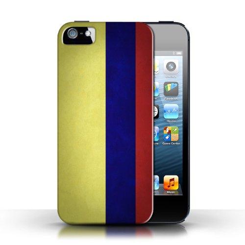 Etui / Coque pour Apple iPhone 5/5S / Columbia/Colombie conception / Collection de Drapeau