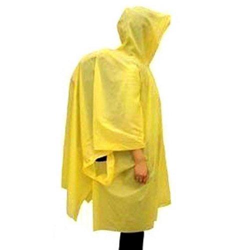 Meanhoo Poncho Rain Coat Emergency Hooded Camping Hiking Outdoor Reusabler Rain -