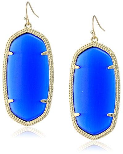 Kendra ScottSignature Danielle Gold plated Cobalt Glass Drop Earrings