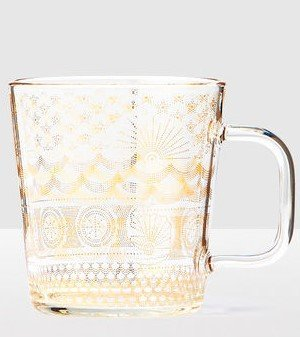 2017 Golden Sea Pattern Anniversary Collection Glass Mug 14 ()