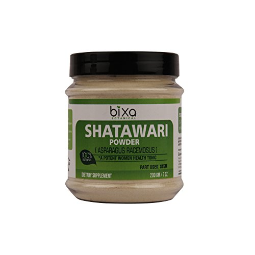 Shatavari Powder (Asparagus Racemosus) – For Hot Flashes and Natural Women Health tonic | Herbal Supplement for increasing breast milk, Uterine tonic. Promotes vitality and strength (200g / 7 Oz) Review