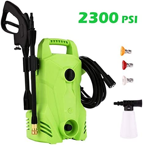 Hopekings Electric Pressure Washer 2300PSI 1.6GPM Electric Power Washer Machine with Spray Gun, High Pressure Hose 3 Interchangeable Nozzles 2300PSI, 1.6GPM