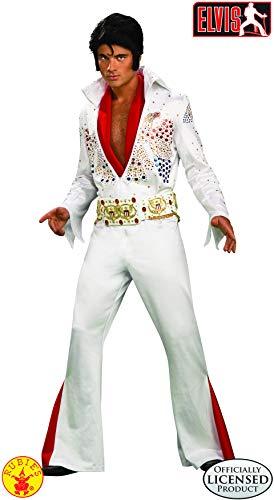 Elvis Super Deluxe Grand Heritage Costume, White, X-Large