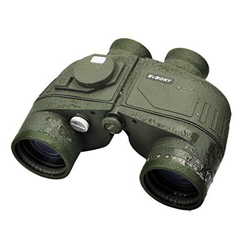 [해외]SVBONY 군사 쌍안경 Bak4 Porro 프리즘 쌍안경과 거리 측정기 및 나침반 해양 쌍안경 7x50 방수 낚시 보트 물 / SVBONY SV27 Military Binoculars Bak4 Porro Prism Binoculars with Rangefinder and Compass Marine Binoculars 7x50 Waterproof for...