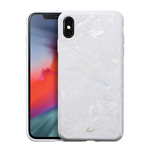 Sensational White Case - LAUT - Pearl Series for iPhone Xs Max | Mother of Pearl Phone Case | Pearl Phone Case | 3D Sensational Case (Arctic Pearl)