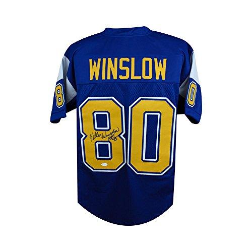 Kellen Winslow HOF Autographed San Diego Chargers Custom Football Jersey JSA