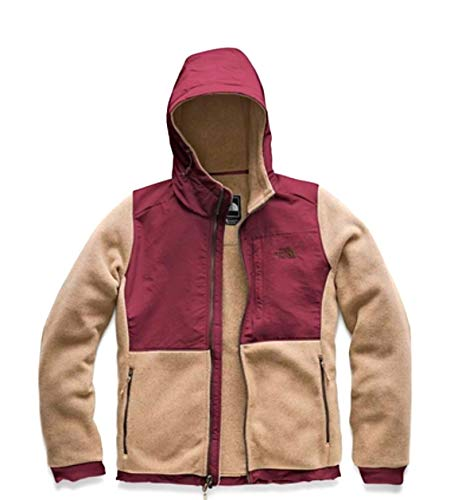 (The North Face Women Denali Hoodie 2 Doeskin Brown/Fig Red X-Large)