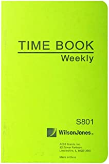 amazon com wilson jones foreman s pocket size employee time book