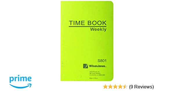wilson jones foremans pocket size employee time book 4 13 x 6 75