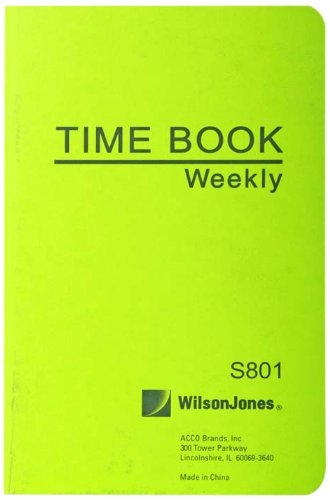Wilson Jones Foreman's Time Book, 6.75 x 4.125 Inches, 1 Page per Week, 36 Pages per Book - Jones Record Wilson