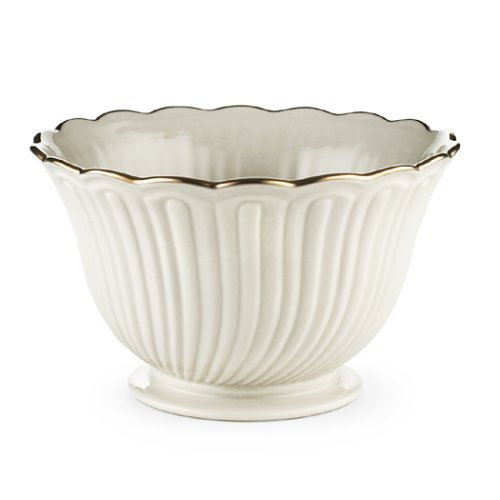 Lenox Housewarming Ivory China Gold Banded Treat - China Serving Bowl Ivory Banded