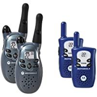 Motorola T4500 2-Mile 22-Channel FRS/GMRS Two-Way Radio/Motorola T5500 5-Mile 22-Channel FRS/GMRS Two-Way Radio (Blue and Gray)