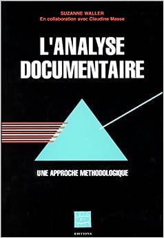L'analyse documentaire, une approche méthodologique