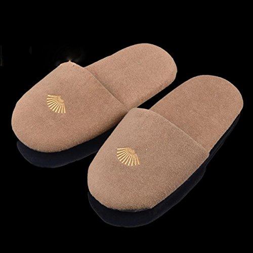 Spa Slippers-Pantoufles de l'hôtel / chaussures de qualité Spa, pantoufles jetables en toiles antidérapantes pour la maison, les avions et les vacances / 10 paires