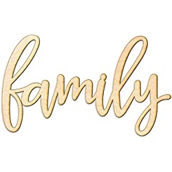 "Family Wood Sign Home Décor Gallery Wall Art Unfinished 12"" x8"""