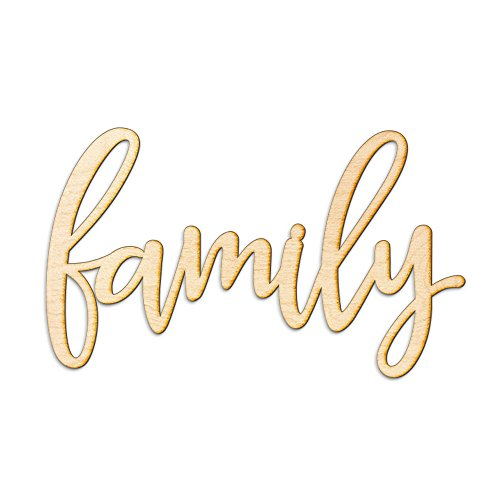 Family Wood Sign Home Décor Gallery Wall Art Unfinished 12""