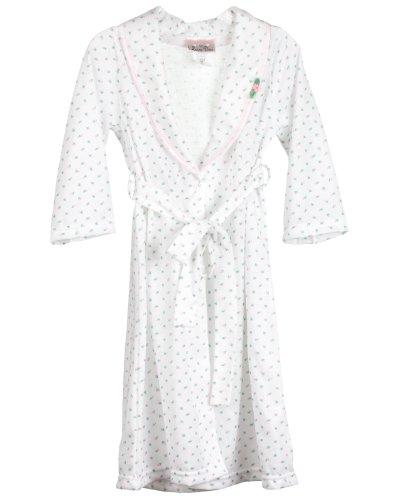 Laura Dare Little Girls Rosebud Jersey Bath Robe Wrap, 5 (Outfit Rosebud)
