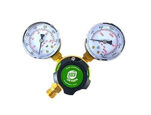 (SÜA - Oxygen Regulator Welding Gas Gauges - CGA-540 - Rear Connector - LDP series)