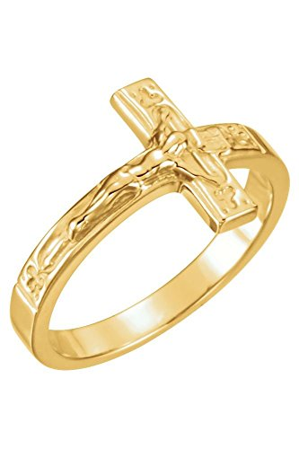 Sterling Silver Crucifix Chastity Ring, Size 8 (Crucifix Chastity Ring)