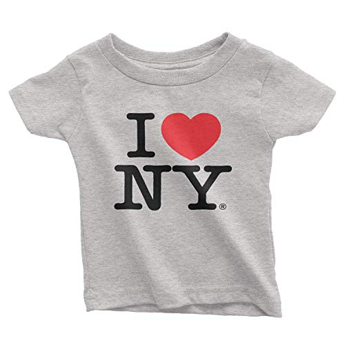 - I Love NY New York Baby Infant Short Sleeve Screen Print Heart T-Shirt Gray,Gray,18 Months