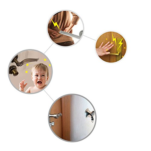 Artec360 Baby Safety Equipment Door Handle Glove Cover Door Knob Protector Guarder Crashproof, Food Grade Silicone, Anti-Static, Easy to Clean, Thicker Design by Artec360 (Image #6)