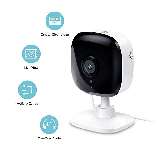All-new Echo Show (2nd Gen) - Sandstone + Kasa Indoor Smart Security Camera, 1080P HD with Night Vision