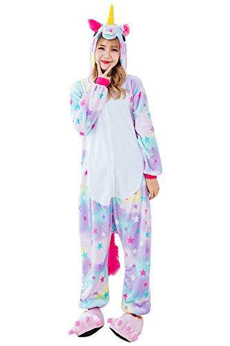 Kids Unicorn Onesie Pajamas Costume for Halloween Cosplay Christmas Gift (XL, Stars (Slumber Party Costume For Halloween)