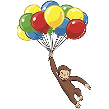 Curious George Balloon United States PNG, Clipart, Balloon ...  |Curious George Holding Ballons Drawings