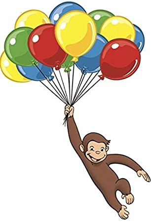 Curious George Storybook Giant Wall Decals Monkey Stickers Kids or Nursery Decor