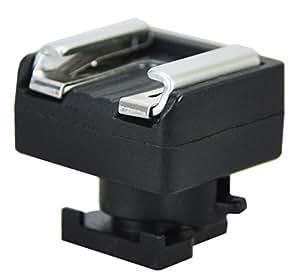 Maxsima - mini zapata avanzada de Universal Shoe Mount Converter para Canon LEGRIA y videocámaras VIXIA, HF10, HF20, HF21, HF100, HF200, HG10, HG20, S10 HF, HF S20, S21 HF, HF S100, HF S200, HF M31, HF M32, HF M36, HF M300, M306 HF, HF M307, M506 HF. (Hotshoe adaptador / convertidor). cabe también otros modelos