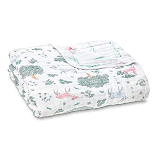 aden + anais Dream Blanket | Boutique Muslin Baby Blankets for Girls & Boys | Ideal Lightweight Newborn Nursery & Crib Blanket|Unisex Toddler & Infant Bedding, Shower & Registry Gift, Forest Fantasy